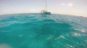 Nước biển Cancun với một màu xanh ngắt